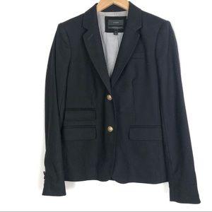 J CREW Schoolboy Blazer Jacket 4 Black Wool o513